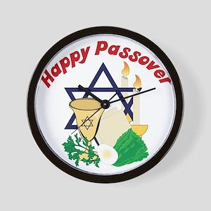 Happy Passover Wall Clock