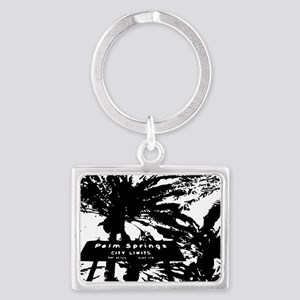 BlacknWhite Palm Springs sign Landscape Keychain