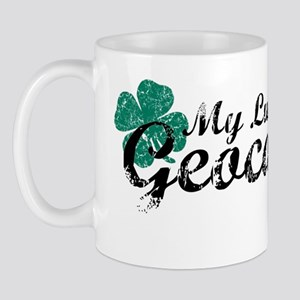 Lucky Geocaching Shirt Mug
