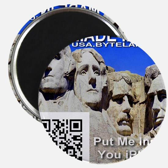 Made in USA -- USA.BYTELAND.ORG QR Code Magnet