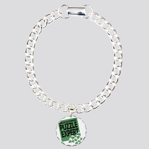 Geocaching Puzzle Expert Charm Bracelet, One Charm
