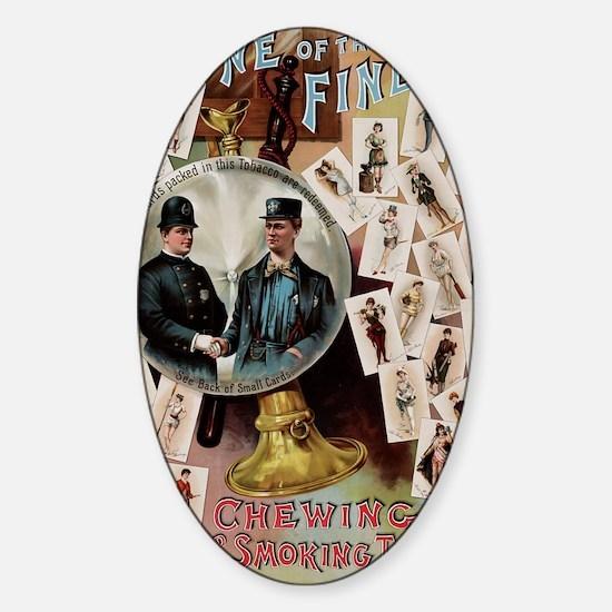 tobacco ad Sticker (Oval)
