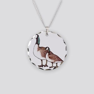 Canada Geese Necklace Circle Charm
