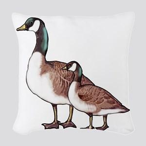 Canada Geese Woven Throw Pillow