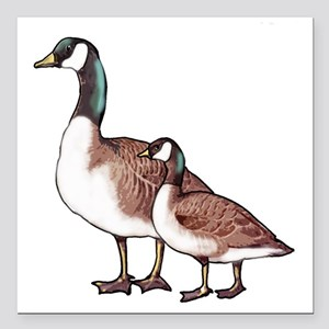 "Canada Geese Square Car Magnet 3"" x 3"""