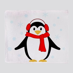 Winter Penguin Throw Blanket