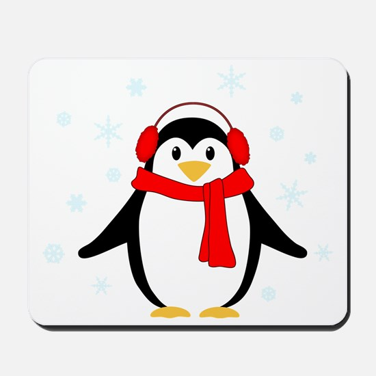 Winter Penguin Mousepad