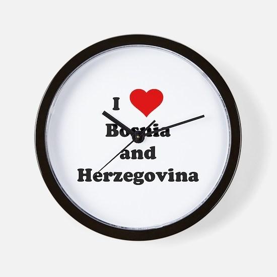 I Love Bosnia and Herzegovina Wall Clock