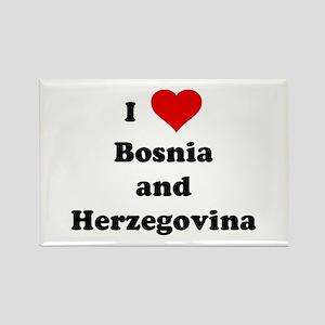 I Love Bosnia and Herzegovina Rectangle Magnet