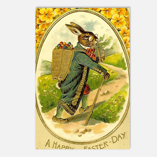 Standing Easter Bunny Rab Postcards (Package of 8)