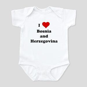 I Love Bosnia and Herzegovina Infant Bodysuit