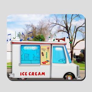 Ice Cream Truck in the Neighborhood Mousepad