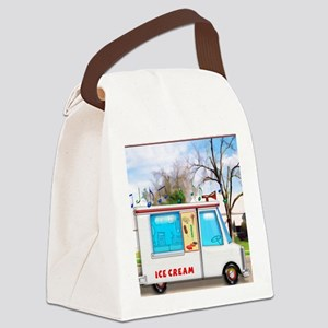 Ice Cream Truck in the Neighborho Canvas Lunch Bag