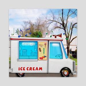 Ice Cream Truck in the Neighborhood Queen Duvet