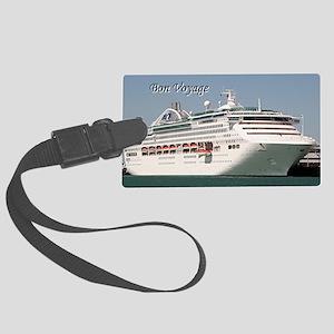 Bon Voyage: cruise ship Large Luggage Tag