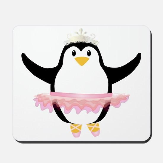 Ballerina Penguin Mousepad