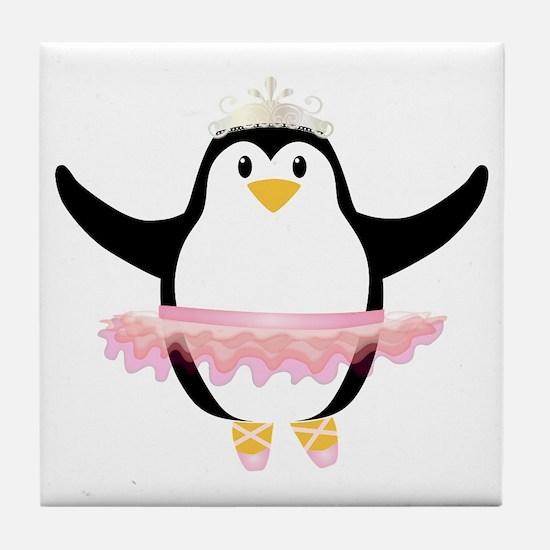 Ballerina Penguin Tile Coaster