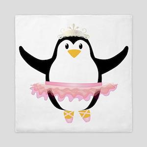 Ballerina Penguin Queen Duvet