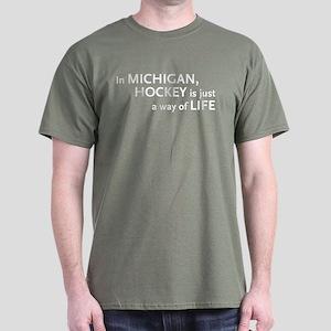 Michigan Hockey State Dark T-Shirt