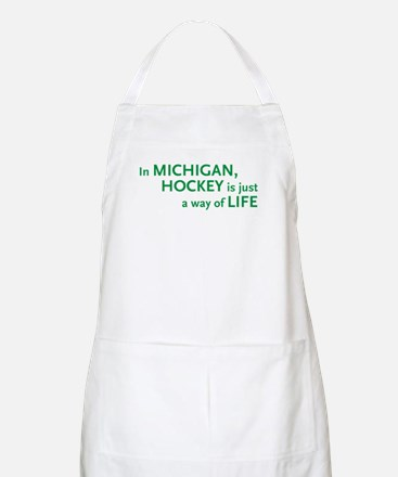 Michigan Hockey State BBQ Apron