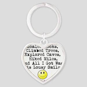 Lousy Smiley Heart Keychain