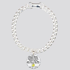 Lousy Smiley Charm Bracelet, One Charm