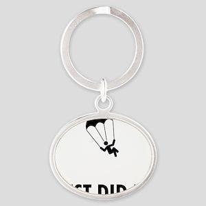 Parachuting-ABP1 Oval Keychain