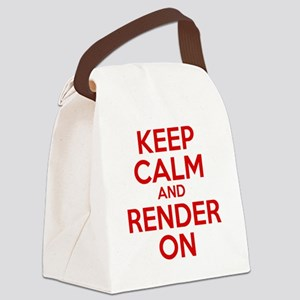 Keep Calm And Render On Canvas Lunch Bag