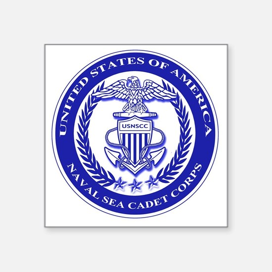"NAVAL SEA CADET CORPS SEAL Square Sticker 3"" x 3"""
