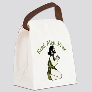 Real Men Pray Canvas Lunch Bag