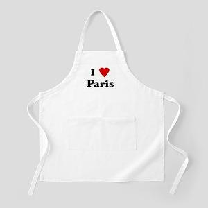I Love Paris BBQ Apron
