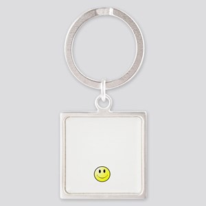 Lousy Smiley Square Keychain