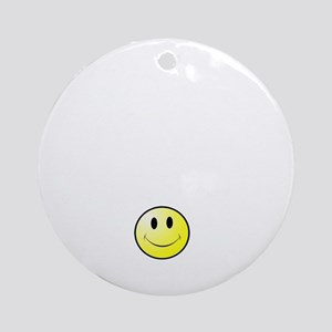 Lousy Smiley Round Ornament