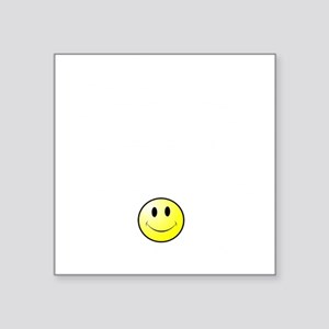 "Lousy Smiley Square Sticker 3"" x 3"""