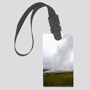 Old Faithful Yellowstone Nationa Large Luggage Tag