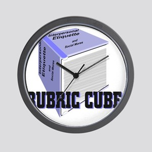 Rubric Cube - Etiquette Wall Clock