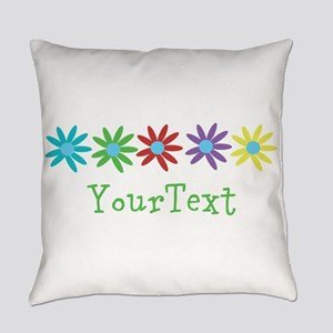 Personalize Flowers Everyday Pillow