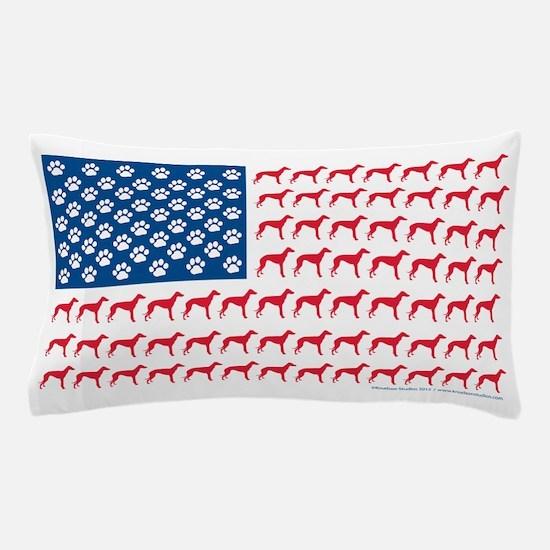 Greyhound Rescue Flag Tee Pillow Case