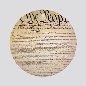 We The People Round Ornament