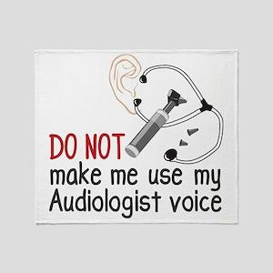 Audiologist Voice Throw Blanket