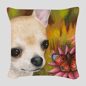 dog 85 Woven Throw Pillow