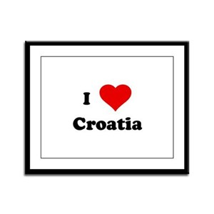 I Love Croatia Framed Panel Print