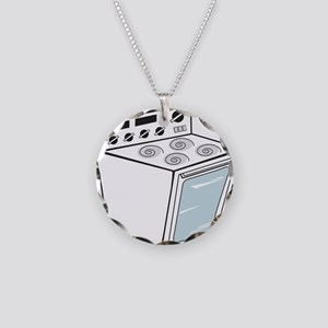 Stove Necklace Circle Charm