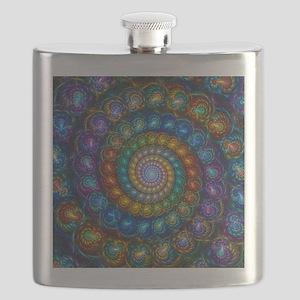 Fractal Spiral Beads Shirt Flask