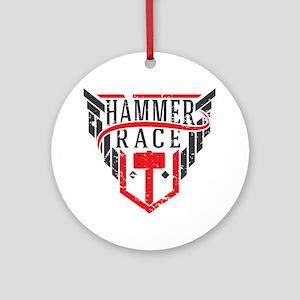 Hammer Race Badge Round Ornament