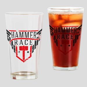 Hammer Race Badge Drinking Glass