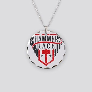 Hammer Race Badge Necklace Circle Charm