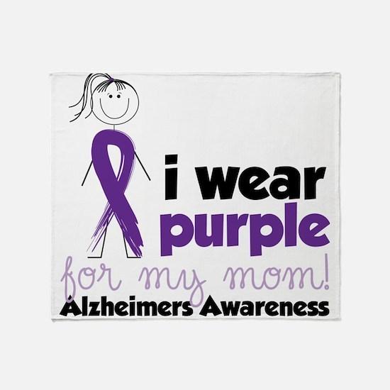 I Wear Purple Throw Blanket