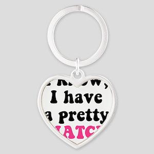 Pretty Snatch Heart Keychain