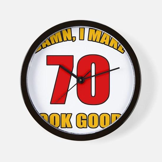 70 Looks Good! Wall Clock